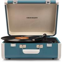 Виниловый проигрыватель CROSLEY PORTFOLIO PORTABLE [CR6252A-TU] Turquoise & White c Bluetooth