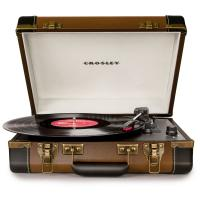 Виниловый проигрыватель CROSLEY EXECUTIVE PORTABLE [CR6019D-BR] Brown & Black c Bluetooth