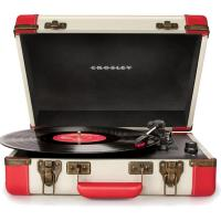 Виниловый проигрыватель CROSLEY EXECUTIVE PORTABLE [CR6019D-RE] Red & White c Bluetooth