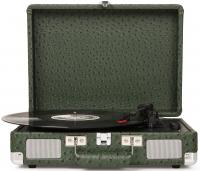Виниловый проигрыватель CROSLEY CRUISER DELUXE [CR8005D-OS] Green Ostrich c Bluetooth